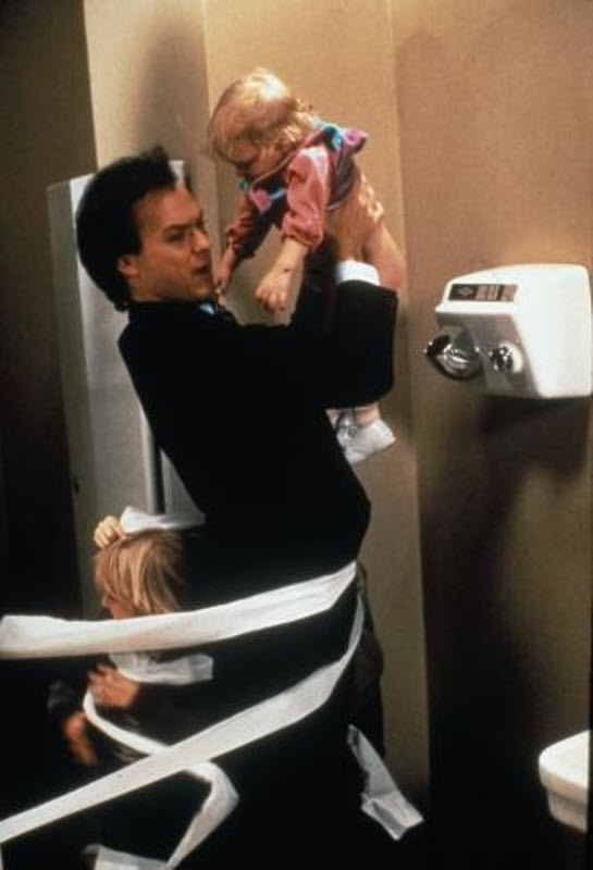 mr mom Michael keaton as an unemployed father with his hands full, taking over domestic responsibilities in the comedy mr mom i talk about this movie a lot, actually.